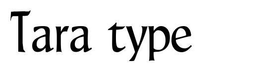 Шрифт Tara type