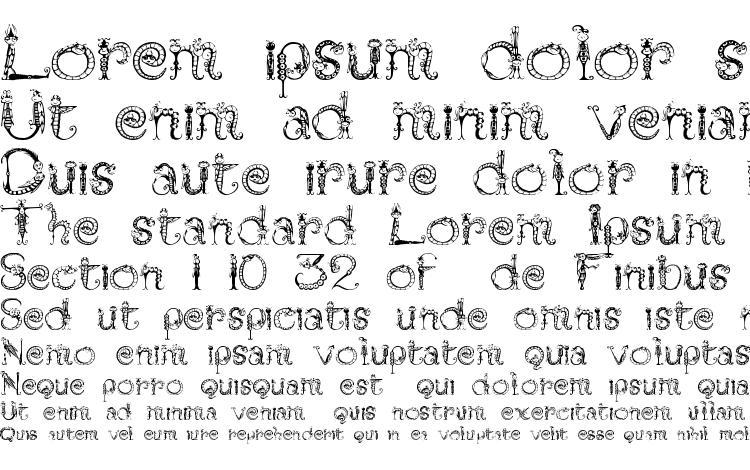 specimens Tarantella font, sample Tarantella font, an example of writing Tarantella font, review Tarantella font, preview Tarantella font, Tarantella font