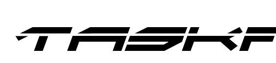 Taskforce Laser Italic Font