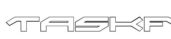 Taskforce Outline Font