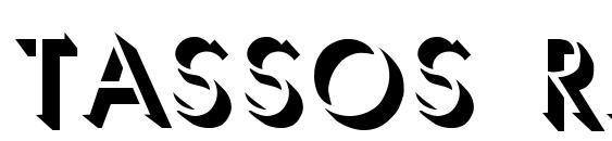 TASSOS Regular Font
