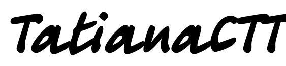 TatianaCTT Font