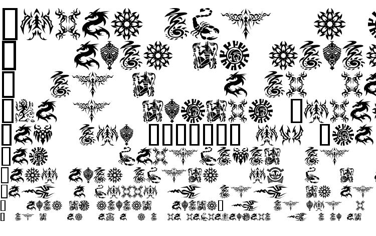 specimens Tattoo font, sample Tattoo font, an example of writing Tattoo font, review Tattoo font, preview Tattoo font, Tattoo font