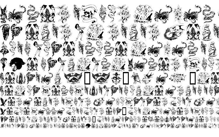 образцы шрифта TattooParlour, образец шрифта TattooParlour, пример написания шрифта TattooParlour, просмотр шрифта TattooParlour, предосмотр шрифта TattooParlour, шрифт TattooParlour