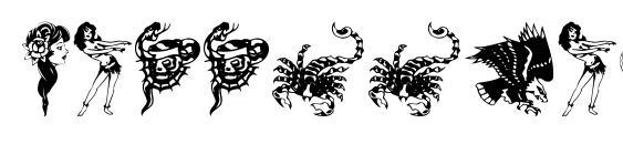 Шрифт TattooParlour