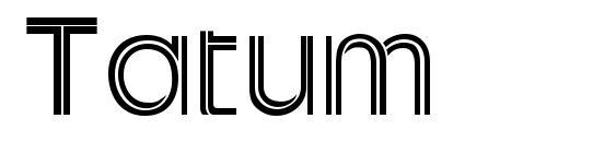 Шрифт Tatum