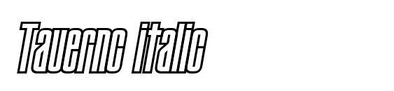 Шрифт Tauernc italic