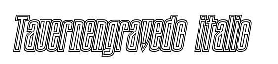 Tauernengravedc italic Font