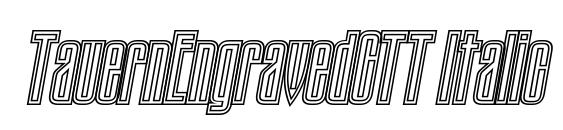 TauernEngravedCTT Italic font, free TauernEngravedCTT Italic font, preview TauernEngravedCTT Italic font