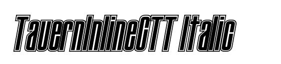 Шрифт TauernInlineCTT Italic