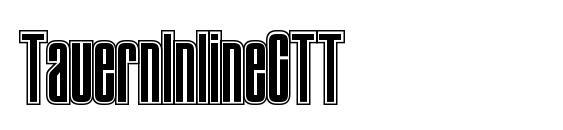 TauernInlineCTT font, free TauernInlineCTT font, preview TauernInlineCTT font