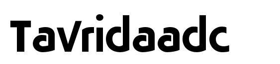 Шрифт Tavridaadc