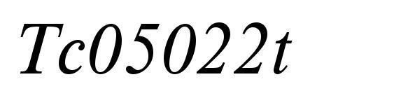 Tc05022t Font