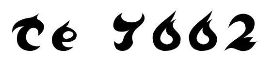 шрифт Te 7002, бесплатный шрифт Te 7002, предварительный просмотр шрифта Te 7002