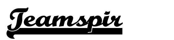 шрифт Teamspir, бесплатный шрифт Teamspir, предварительный просмотр шрифта Teamspir