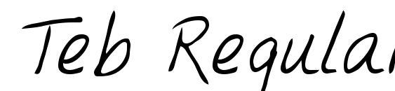 Шрифт Teb Regular