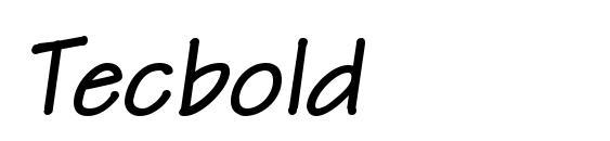 Шрифт Tecbold