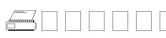 шрифт Tech dingbats, бесплатный шрифт Tech dingbats, предварительный просмотр шрифта Tech dingbats