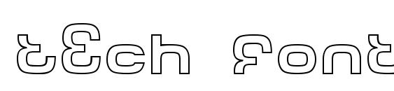 Шрифт Tech font outline