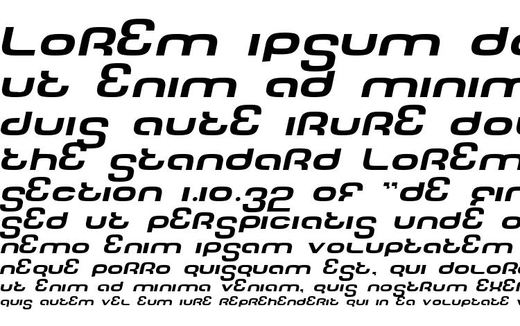 образцы шрифта Tech font wide italic, образец шрифта Tech font wide italic, пример написания шрифта Tech font wide italic, просмотр шрифта Tech font wide italic, предосмотр шрифта Tech font wide italic, шрифт Tech font wide italic