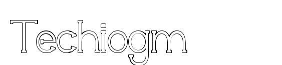Шрифт Techiogm
