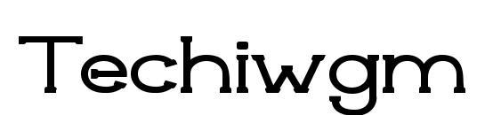 Шрифт Techiwgm
