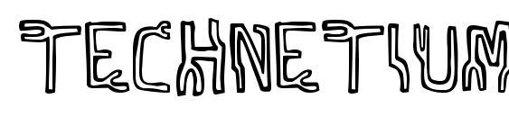 Technetium font, free Technetium font, preview Technetium font