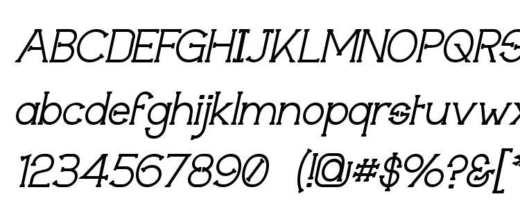 глифы шрифта Technically Insane Italic, символы шрифта Technically Insane Italic, символьная карта шрифта Technically Insane Italic, предварительный просмотр шрифта Technically Insane Italic, алфавит шрифта Technically Insane Italic, шрифт Technically Insane Italic