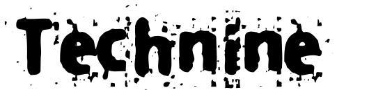 Шрифт Technine