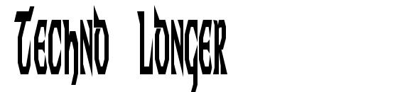 Techno Longer Font