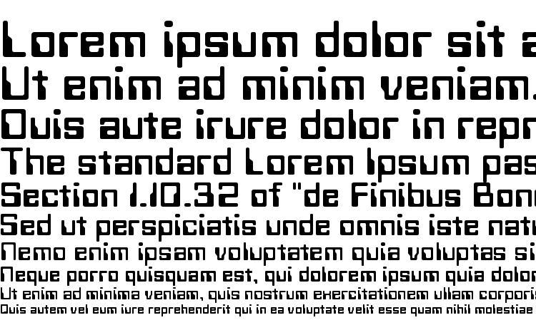 specimens Techno Normal font, sample Techno Normal font, an example of writing Techno Normal font, review Techno Normal font, preview Techno Normal font, Techno Normal font