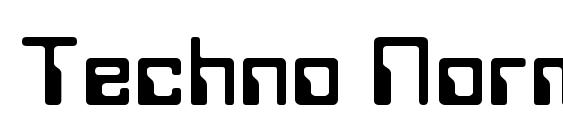 Techno Normal Font