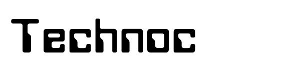 Шрифт Technoc