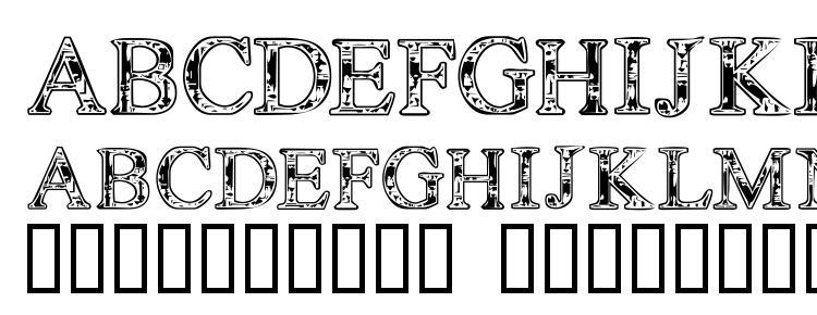 глифы шрифта TechnoClastic, символы шрифта TechnoClastic, символьная карта шрифта TechnoClastic, предварительный просмотр шрифта TechnoClastic, алфавит шрифта TechnoClastic, шрифт TechnoClastic
