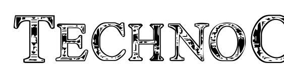 Шрифт TechnoClastic