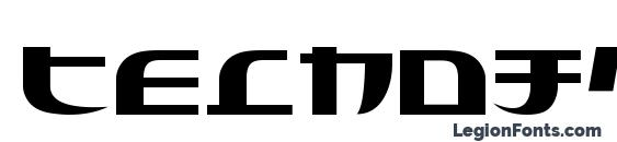Шрифт Tecnojap