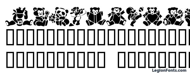 glyphs Teddybears2 font, сharacters Teddybears2 font, symbols Teddybears2 font, character map Teddybears2 font, preview Teddybears2 font, abc Teddybears2 font, Teddybears2 font