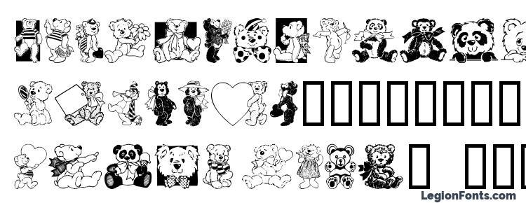 глифы шрифта Teddyber v1.1, символы шрифта Teddyber v1.1, символьная карта шрифта Teddyber v1.1, предварительный просмотр шрифта Teddyber v1.1, алфавит шрифта Teddyber v1.1, шрифт Teddyber v1.1