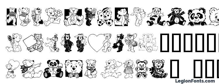 глифы шрифта Teddyber V1.2, символы шрифта Teddyber V1.2, символьная карта шрифта Teddyber V1.2, предварительный просмотр шрифта Teddyber V1.2, алфавит шрифта Teddyber V1.2, шрифт Teddyber V1.2