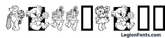 Teddybers too Font