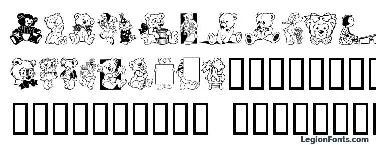 glyphs Teddytoo font, сharacters Teddytoo font, symbols Teddytoo font, character map Teddytoo font, preview Teddytoo font, abc Teddytoo font, Teddytoo font