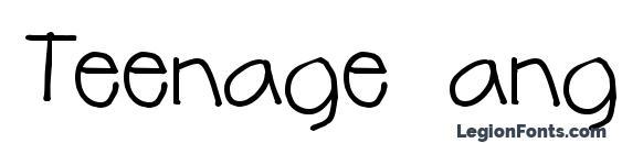 Teenage angst Font