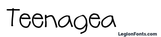Шрифт Teenagea