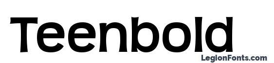 шрифт Teenbold, бесплатный шрифт Teenbold, предварительный просмотр шрифта Teenbold