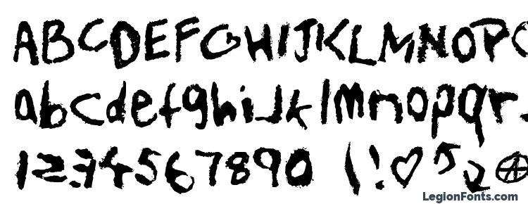 глифы шрифта Teenspir, символы шрифта Teenspir, символьная карта шрифта Teenspir, предварительный просмотр шрифта Teenspir, алфавит шрифта Teenspir, шрифт Teenspir