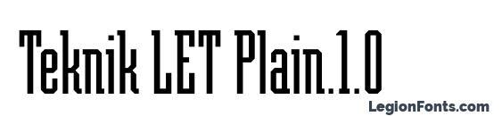 шрифт Teknik LET Plain.1.0, бесплатный шрифт Teknik LET Plain.1.0, предварительный просмотр шрифта Teknik LET Plain.1.0