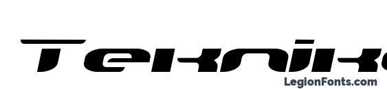 Шрифт TeknikohlRemix01 Oblique