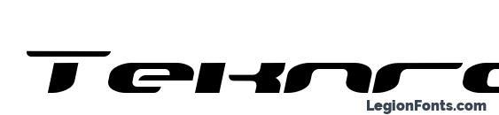 Шрифт Teknro