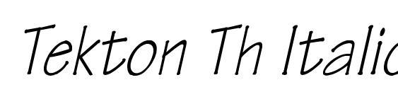 Tekton Th Italic font, free Tekton Th Italic font, preview Tekton Th Italic font