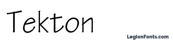 Шрифт Tekton